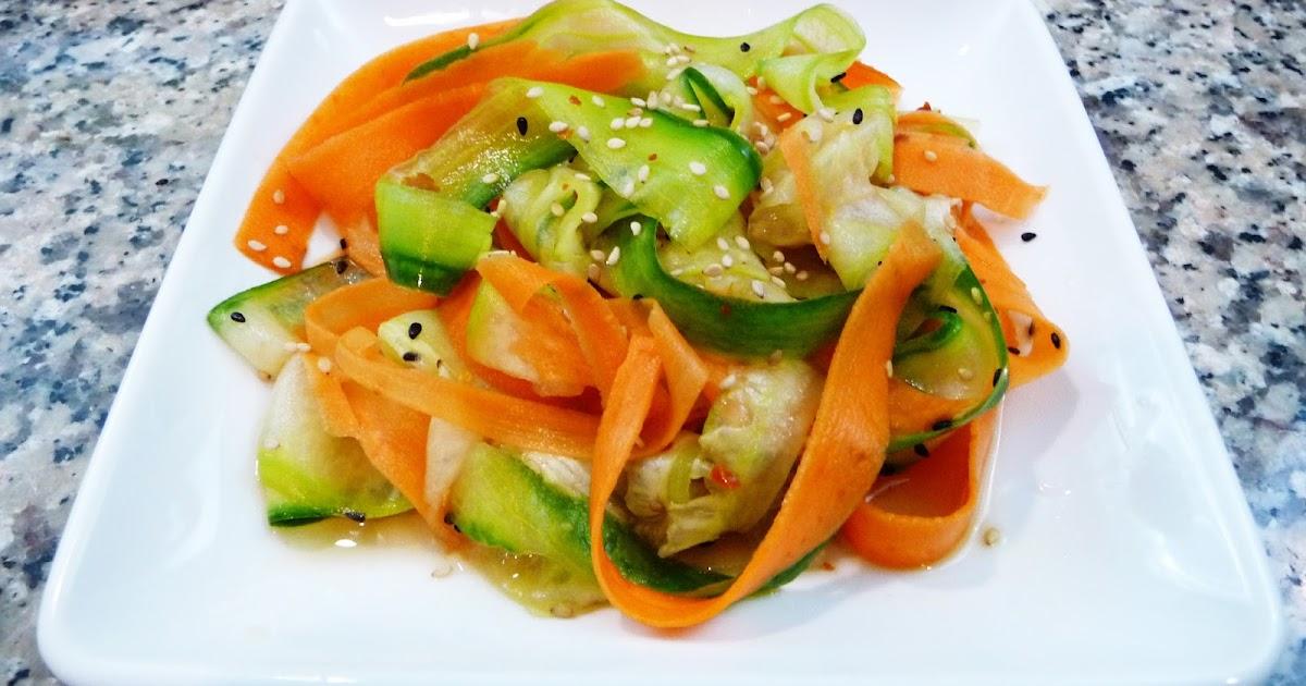 Ensalada japonesa de zanahoria con pepino cocina facil - Ensalada de zanahorias ...