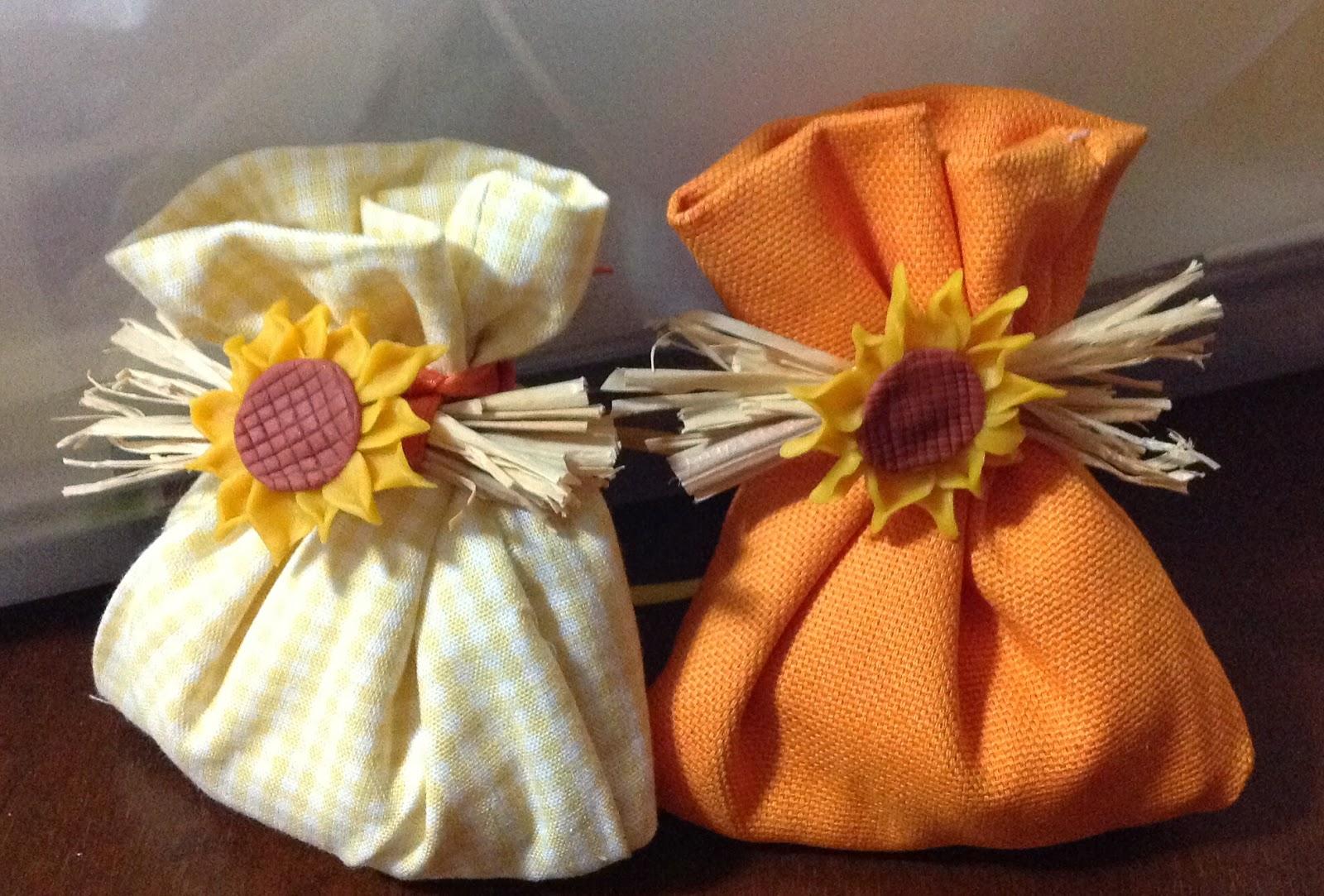 Segnaposto Matrimonio Girasoli : Sandrina crea girasoli in pasta di mais