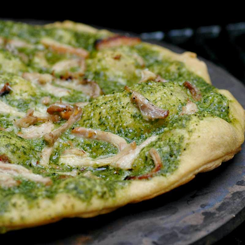 Savoring Time in the Kitchen: Grilled Chicken and Pesto Pizza
