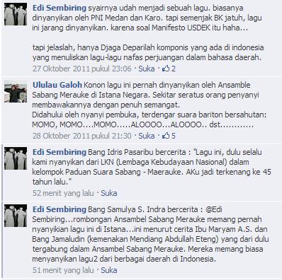 Komentar-komentar tentang USDEK