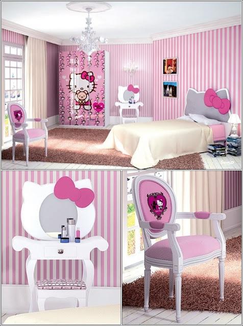 D corez la chambre de votre petite fille avec hello kitty th me d cor de maison - Chambre fille hello kitty ...