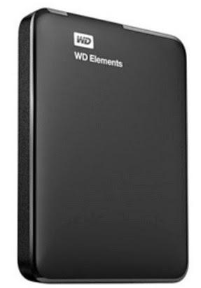 WD Elements portable 1TB External Hard Drive