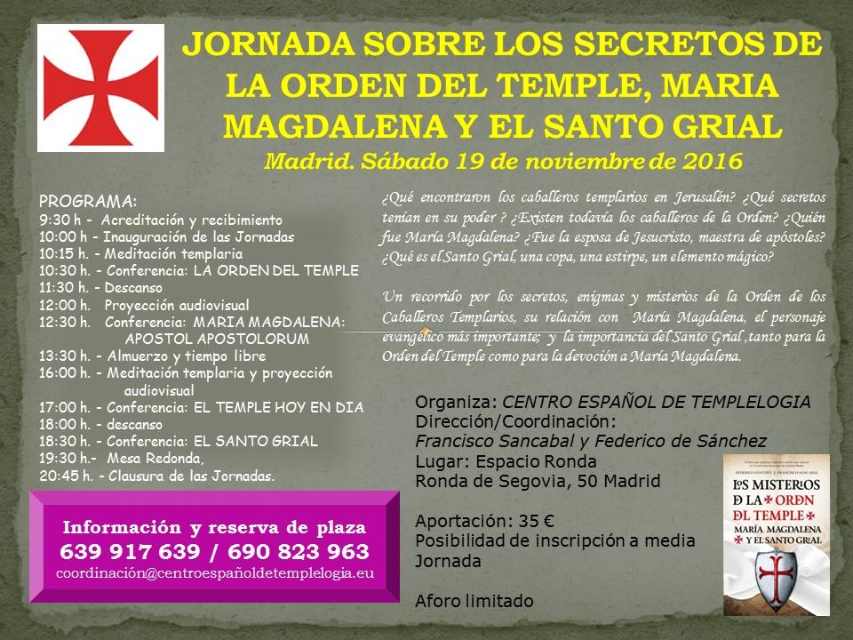JORNADA TEMPLARIA EN MADRID