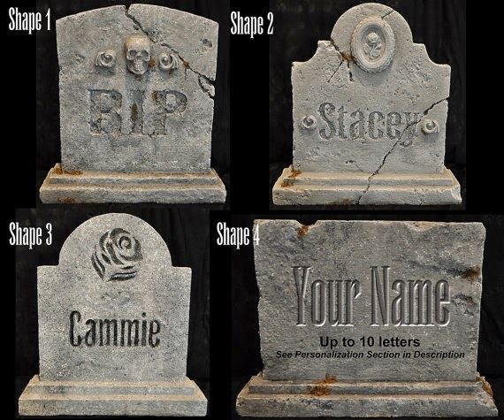 Freaky Foam Tombstones @northmanspartyvamps.com