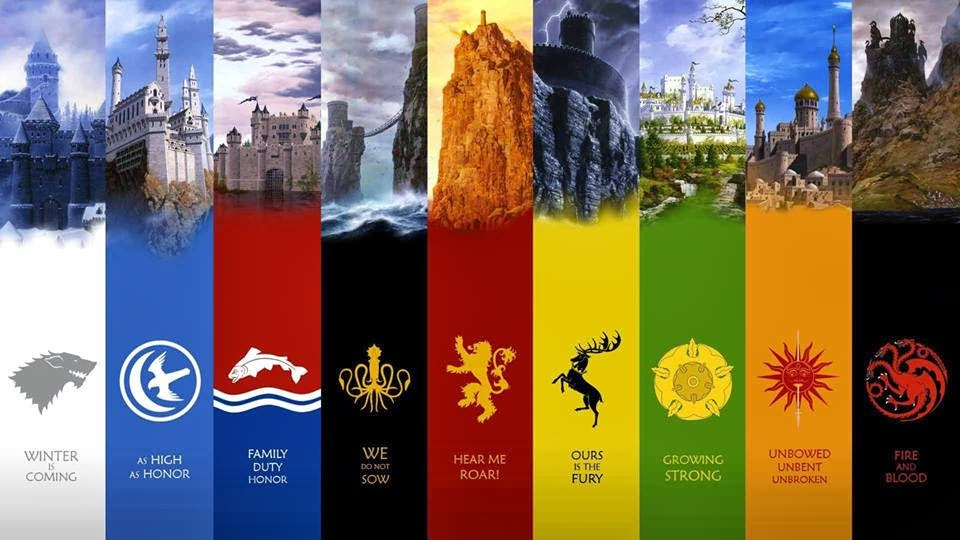 game of thrones sigils houses