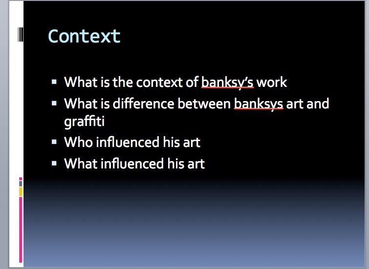 essay banksy