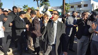 الوقفة الاحتجاجية لأطر الإدارة التربوية أمام الأكاديمية الجهوية للدار البيضاء
