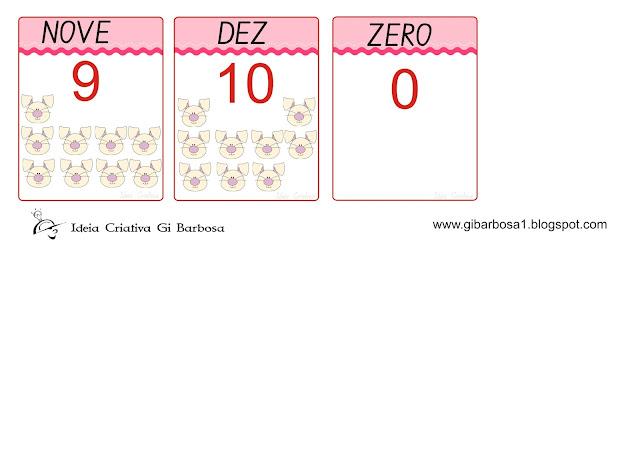 Flash Cards Numerais Temática Páscoa
