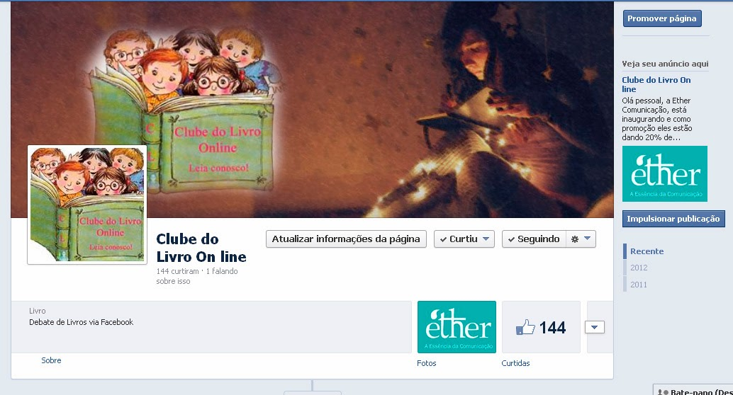 Clube do Livro On Line no Face!