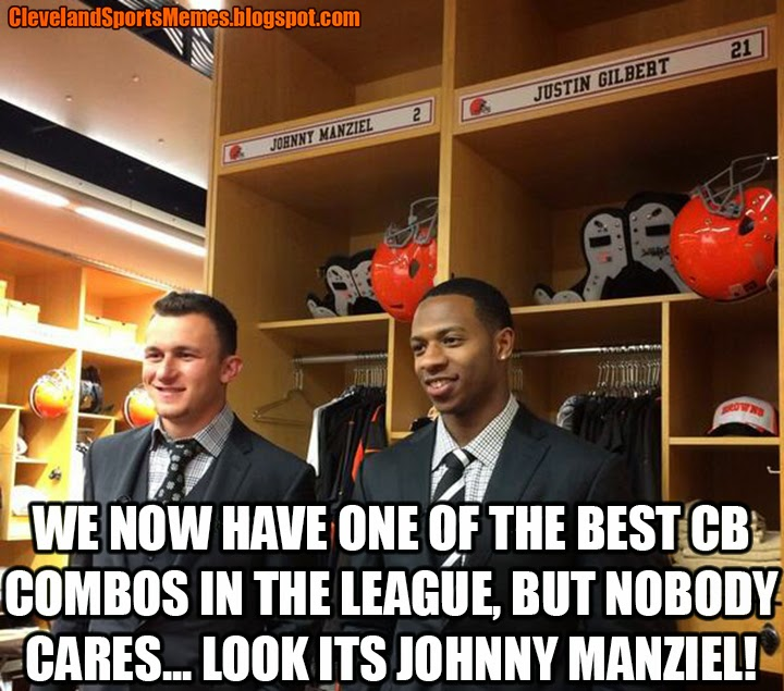 Johnny Manziel Justin Gilbert Browns Cleveland Memes Sports