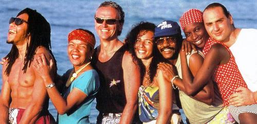 Grupo Kaoma, en la playa