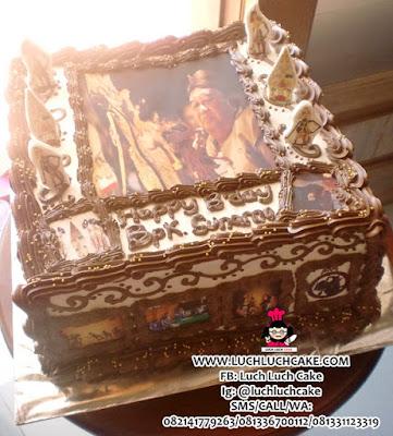 Kue Tart Tema Wayang Daerah Surabaya - Sidoarjo