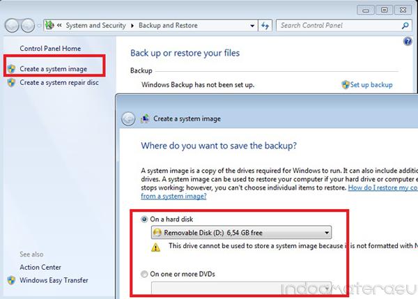 Cara Mudah BackUp dan Restore Windows 7