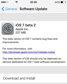 Update Apple iPhone 5 to iOS 7 beta 2 for Developers
