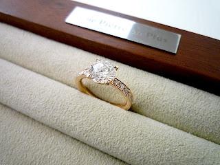 銀座オーダージュエリーサロンでリスタイル(リメイク)したリング。
