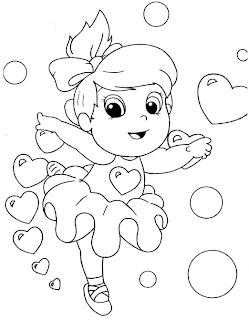 a desenhar menina animada  colorir