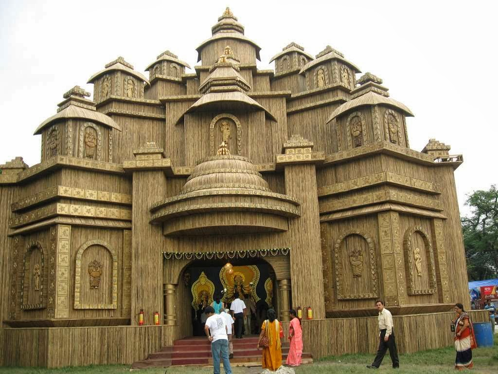 Hd wallpaper durga puja some famous pandal in india beautiful durgapuja pandal thecheapjerseys Images