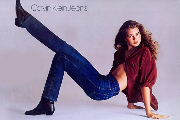 브룩실즈 15살때 나온 캘빈 클라인 진 광고사진