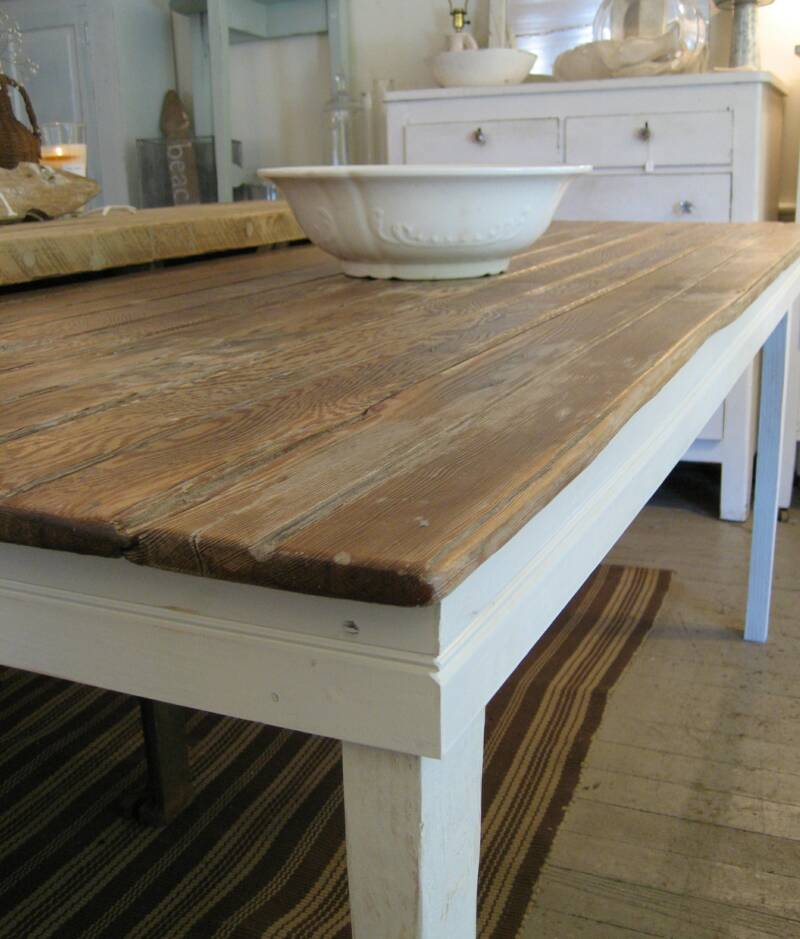 Mignonne handmade farm tables galore for Farmhouse dining table