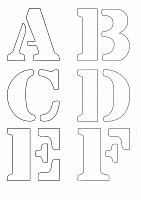 Free Letter Stencils to download
