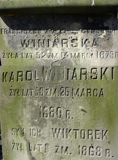 Nagrobek Karola Winiarskiego urodzonego w Fałkowie. Źródło: Zbiory prywatne Waldemara Nowakowskiego.