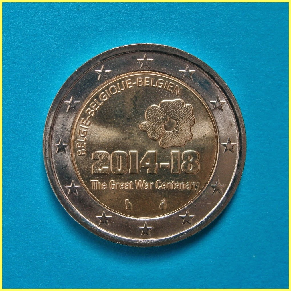 Belgica 2014 Guerra Mundial 2 Euros