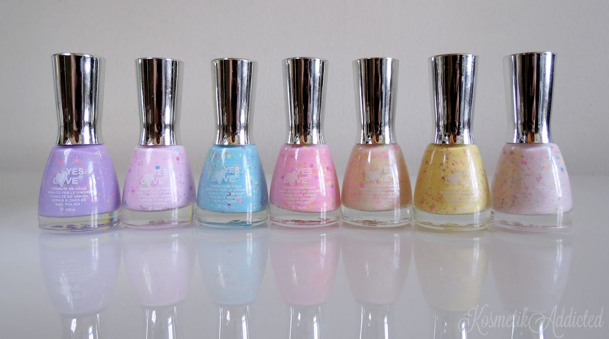 Yes Love Neon Glitter Nail Polishes G1-6 | G11-1 | G11-3 | G11-4 | G1-5 | G11-6 | G11-5