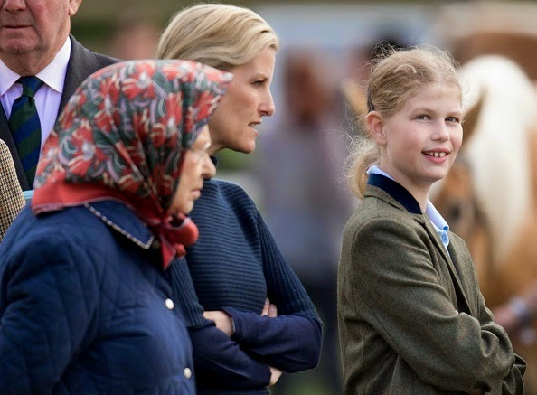 The Queen, Countess Of Wessex And Lady Louise Windsor, Royal Windsor Horse Show