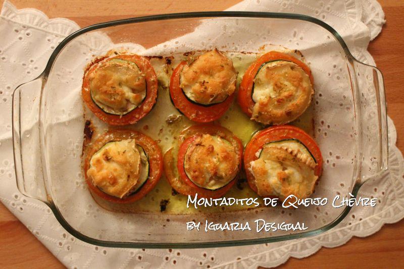 Montaditos+de+Queijo+Chèvre+Tomate+Courgette+e+Orégãos