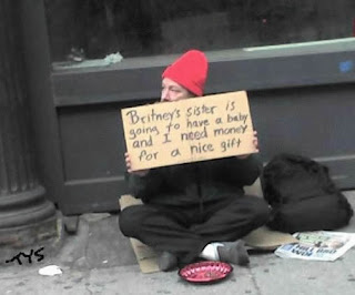 funny homeless sign britney spears