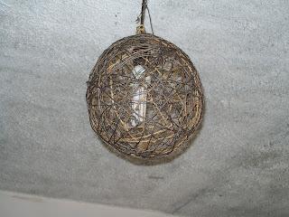 lampara hecha con cuerda