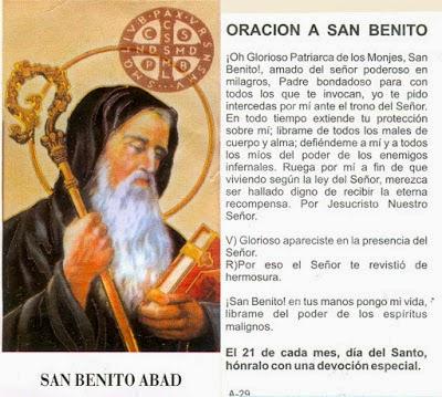 Oracion a San Benito Abad