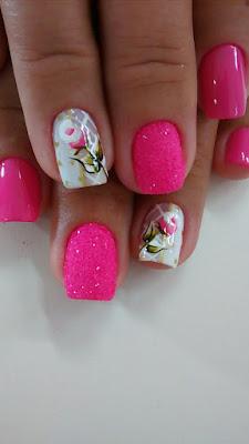 unhas em tom de rosa decoração de unhas faceis de fazer