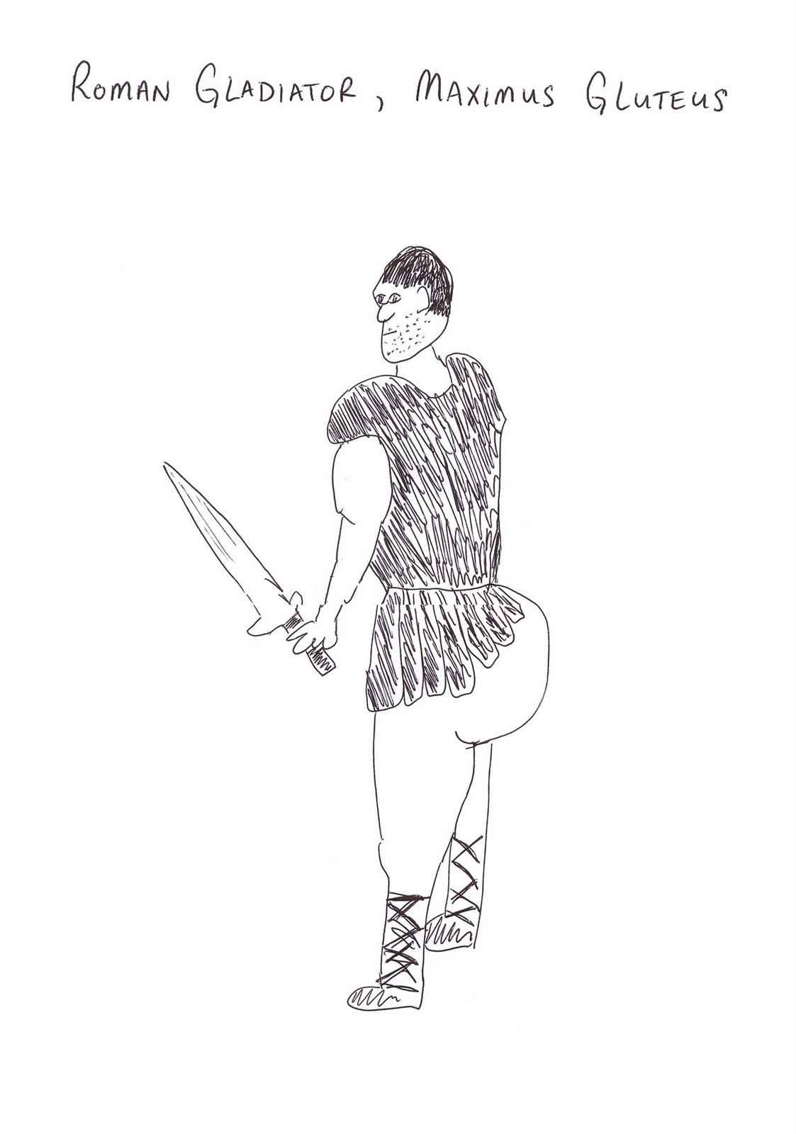 Roman Gladiator Drawing Roman gladiator, maximus