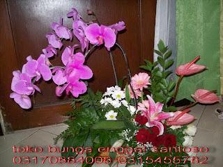 bunga meja anggrek bulan florist surabaya murah dan online