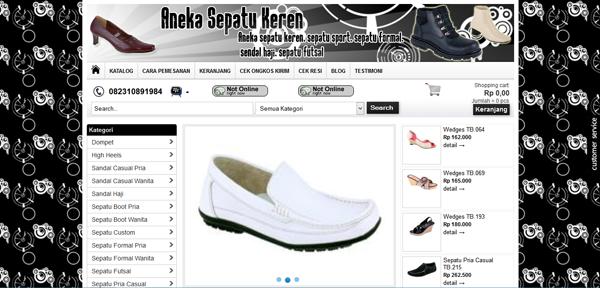 Anekasepatukeren.com Toko Online Sepatu Terpercaya