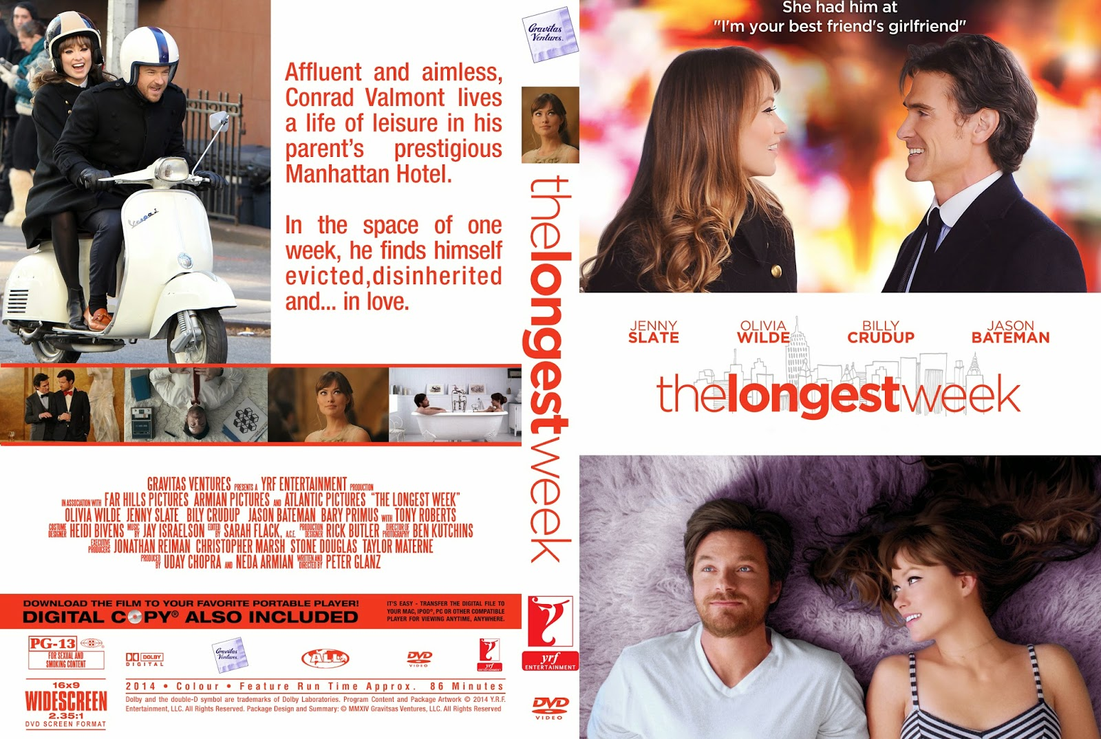 Download Uma Semana a Três BRRip XviD Dual Áudio getdvdcovers the longest week custom cover pips