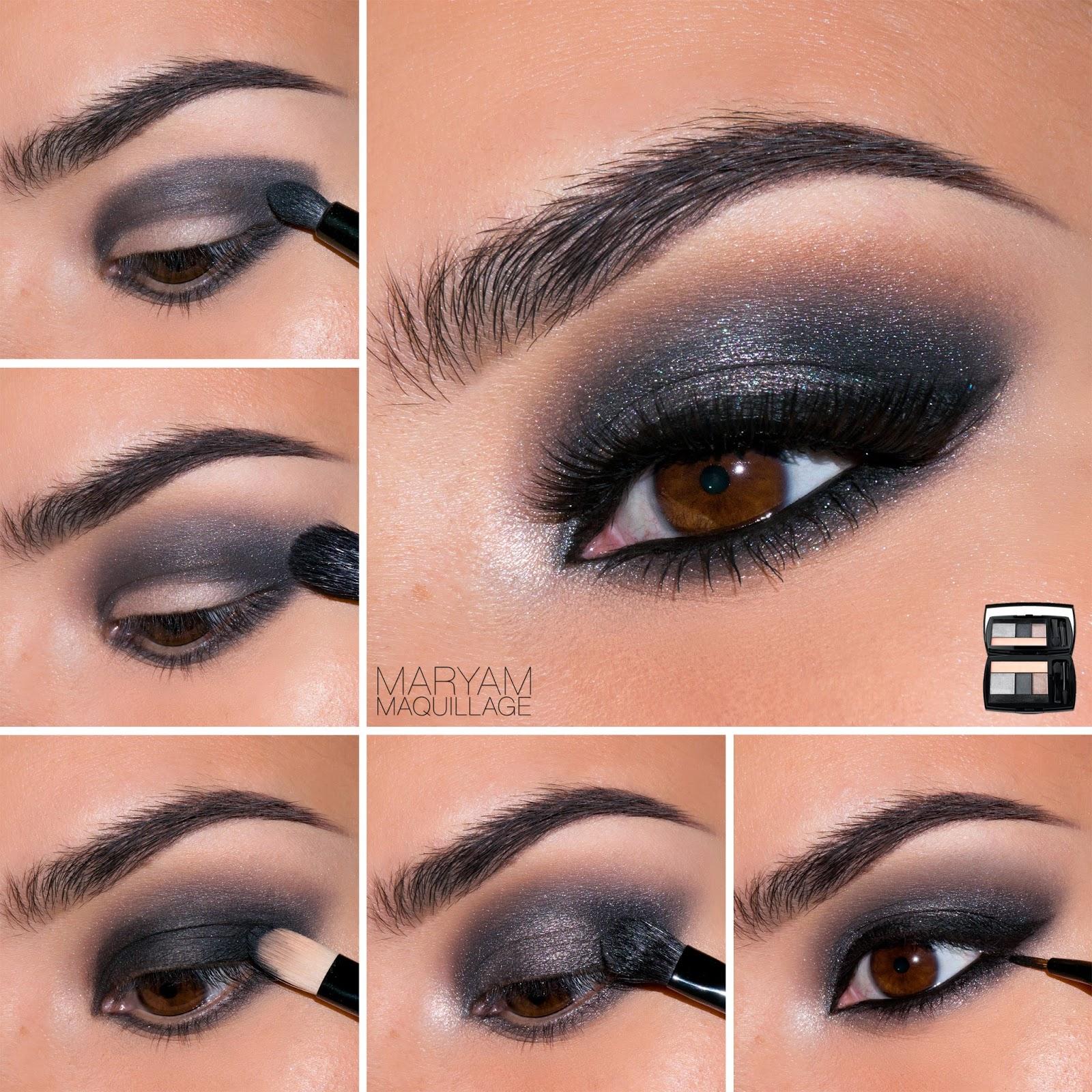 Как сделать вечерний макияж в домашних условиях для карих