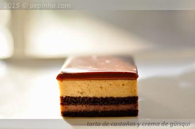 Tarta de castañas y crema de güisqui (o no)