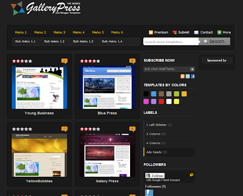Black Gallery Press Blogger Theme