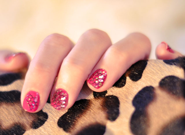 nails, manicure, leopard print
