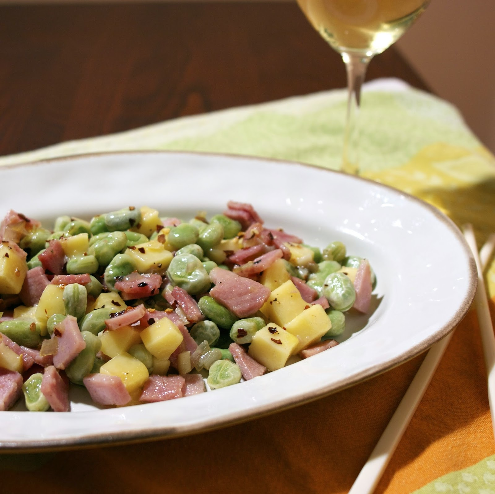 Yunnan Ham with Broad Beans & Goat Cheese.  Such a simple and delicious dish. I never had a Chinese meal that contained cheese.  http://www.simplelivingeating.com/2014/12/yunnan-ham-with-broad-beans-goat-cheese.html#more   #chineserecipes   #yunnan