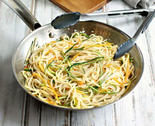 Farmer's Market Spaghetti with Beet Balls