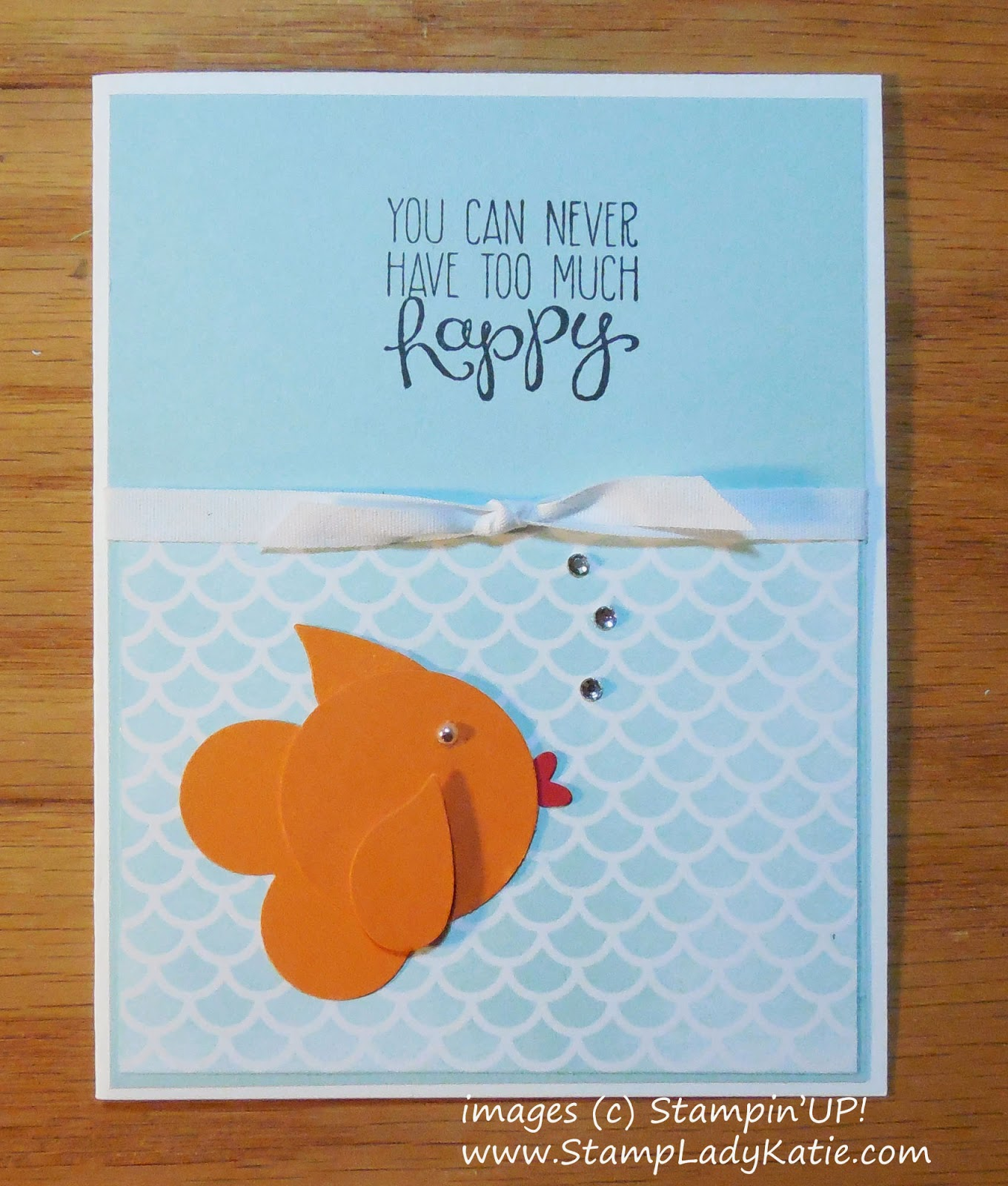 Punch Art Fish Card made with Stampin'UP!'s Irresistibly Yours Designer Paper