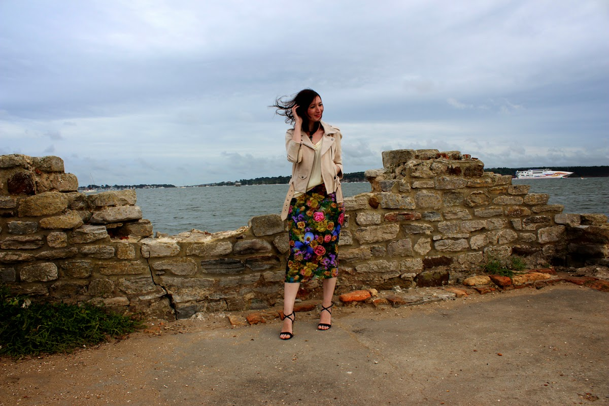 wind, at the seaside, skirt