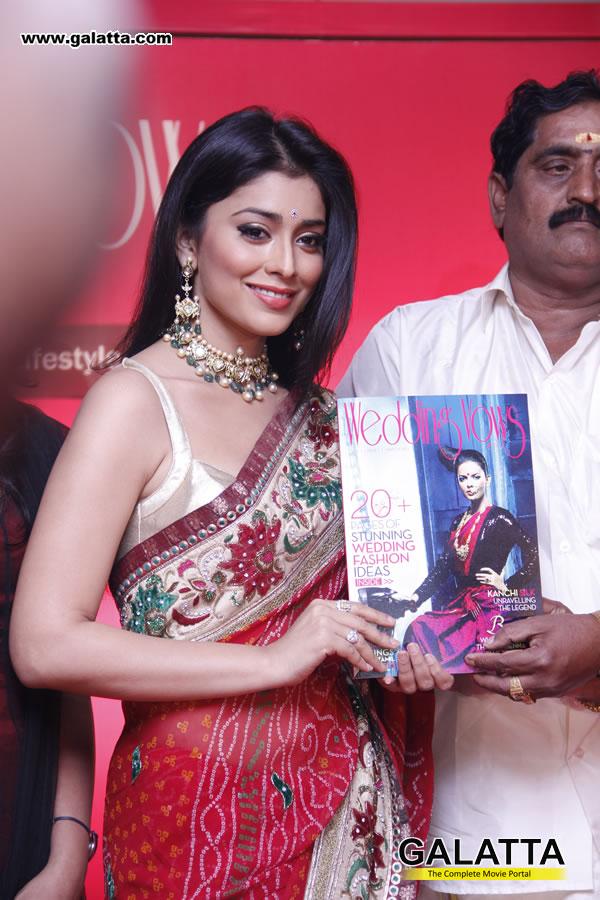 cute photos: Shriya Saran Launches Wedding Vows Magazine Photos