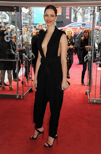 Rebecca Hall took the sideboob at the premiere of Iron Man 3 in London