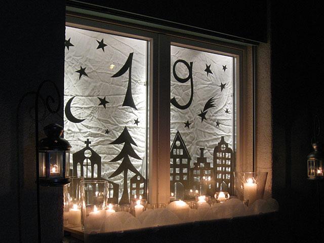 Perlaperla adventsfenster - Adventsfenster gestalten ideen ...