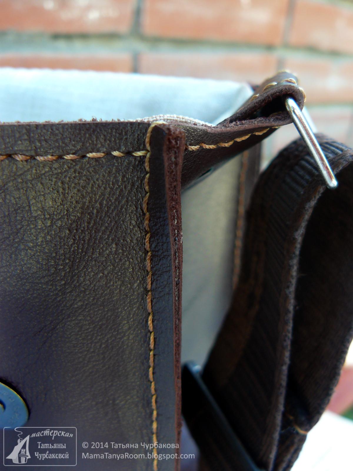 кожаная сумка Путешествие декупаж на коже