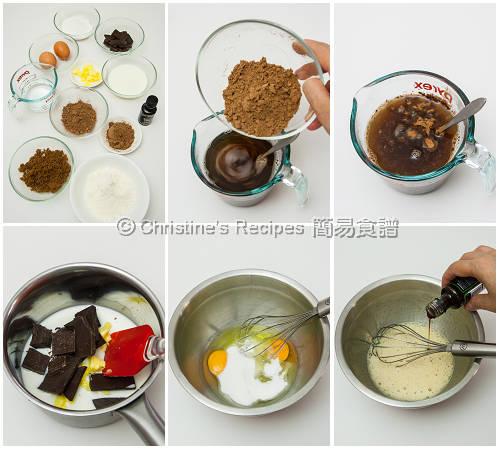 軟心朱古力布甸製作圖 Chocolate Self-Saucing Pudding Procedures01